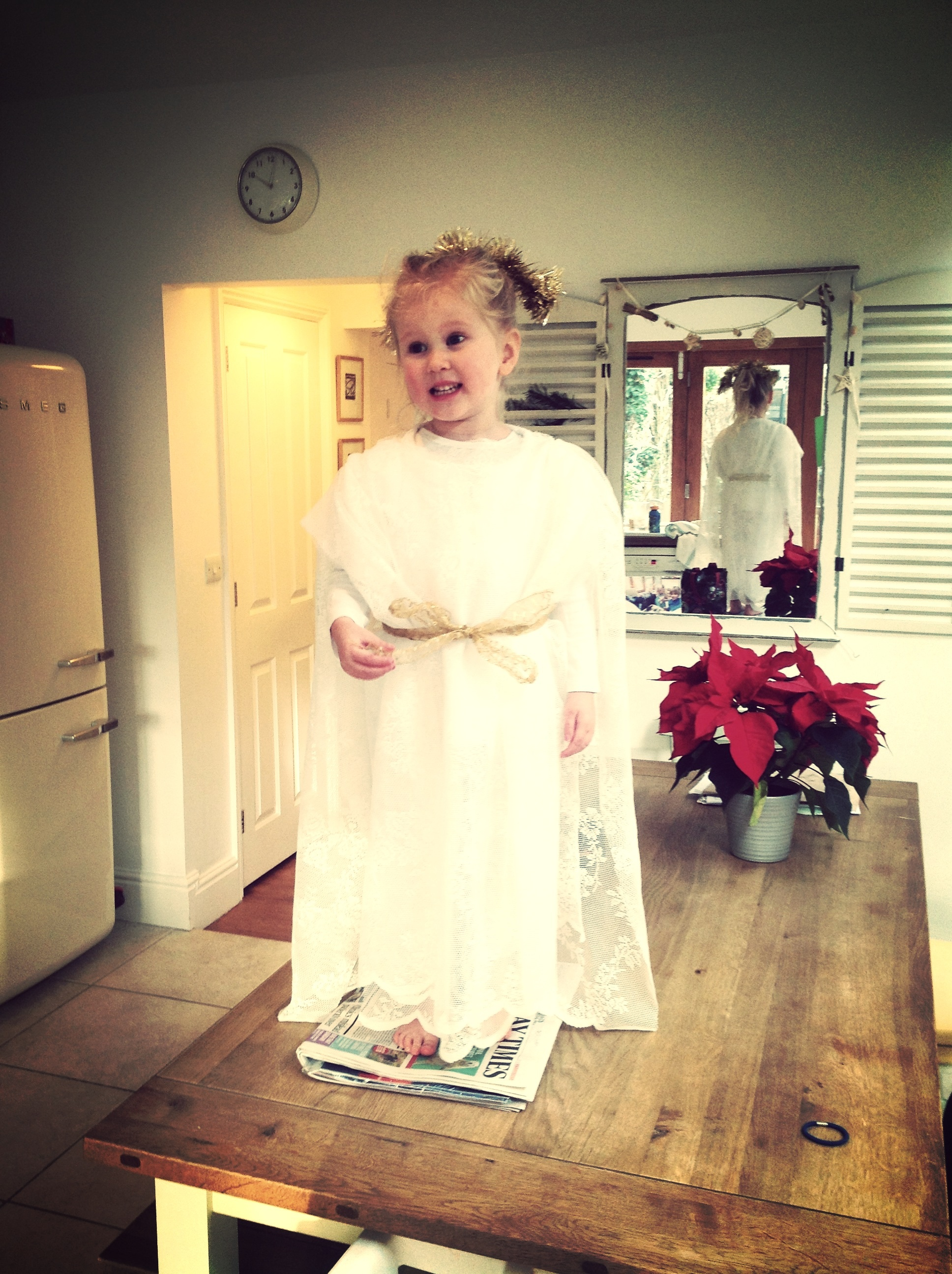 The Final result of the angel costume, I'm actually quite chuffed with it!