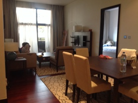 The living/dining room.